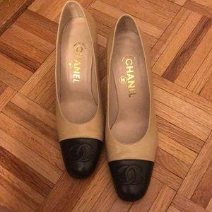 Chanel cap toe shoes